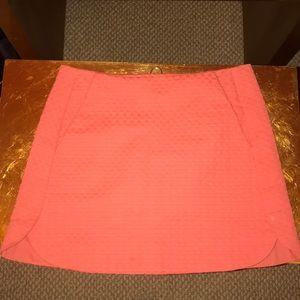 Topshop pink coral mini skirt